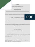 LEY  204 LEY DE CREACIÓN DEL FONDO DE APOYO AL COMPLEJO PRODUCTIVO LÁCTEO – PROLECHE.docx