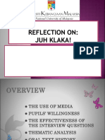 Reflection on the 'Juh Klaka'