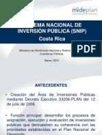 Costa Rica Sistema Nacional de Inversion Publica