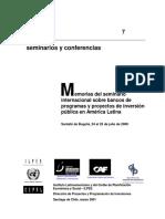 ILPES Bancos de Programas y Proyectos de AL