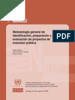 ILPES Metodo General de Identifica Preparacion de Proy Inversion