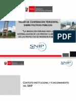 PERU Riesgo Climatico en Los Proyectos de Inversion