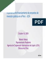 Presentacion Makoto Nakao - Peru Experiencia Jica