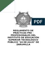 Reglamento de Practicas Modulares 2010