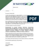 Carta de Presentación Soluciones Quimicas Del Peru