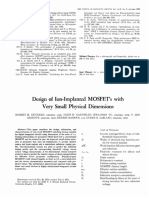 Dennard - Design of Ion-implanted MOSFETs With Very Small Physical Dimensions (IEEE 1974)