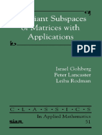 Israel Gohberg Peter Lancaster, Leiba Rodman- InvariantSubspacesOfMatricesWithApplications