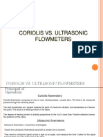 Coriolis vs. Ultrasonic Flowmeters