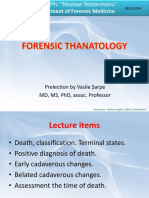 Lecture 02 Forensic Thanatology