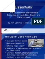 Joint Commission International's Essentials of Health Care Quality and Patient Safety