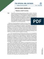Auto del Constitucional sobre la investidura de Puigdemont