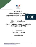 Programme Chimie PCSI 2013