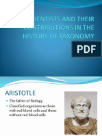 Scientists and Their Contributions in the History Of