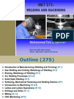 MET 275-Welding and Machining