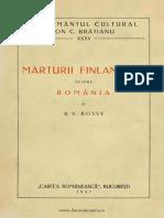 Mărturii Finlandeze Despre România