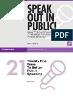 Speak Out in Public by Matt Church