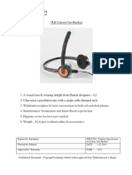 Technical Specification - Celesta Uno Headset