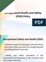 Occupationalhealthandsafetyohspolicy