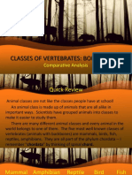 Classes of Vertebrates (Comparative Analysis)
