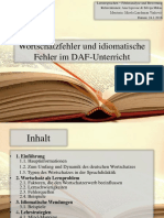 Wortschatzfehler Und Idiomatische Fehler Im DAF-Unterricht (1)