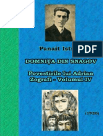 Panait Istrati - Povestirile Lui Adrian Zografi - Volumul 4 - Domniţa Din Snagov - 1926