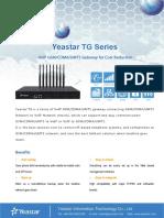 Yeastar TG Series VoIP GSM Gateway Datasheet En