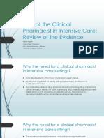 Clinical Pharmacist in ICU