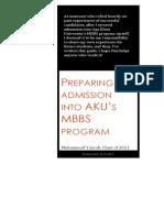Preparing for Admission Into AKU's MBBS Program