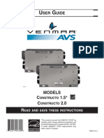 Venmar Air Exchanger Constructo 2.0 Manual