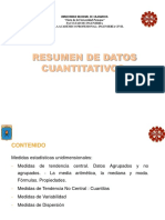 Medidas de Resumen de Datos Cuantitativos