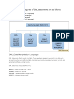 The Four Main Categories of SQL Statements Are as Follows