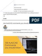 100 AutoCAD Commands You Should Know