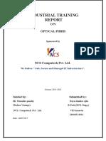 35980894 Industrial Training Report on Optical Fiber in Communication Acd to RTU KOTA