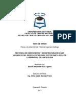 Edison Ruiz Tigrero - Tectónica de Depositación y Bioestratigrafía de Las Areniscas Del Grupo Azúcar en El Sector Santa Rosa de La Península de Santa Elena