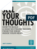 Sell Your Thoughts by Matt Church