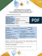 Guía de Actividades y Rúbrica de Evaluación Del Curso Paso 1- Reconocimiento Herramientas Contextuales
