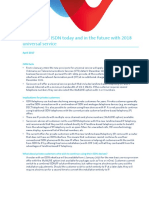 Fact Sheet on Isdn Today and in the Future With 2018 Universal s