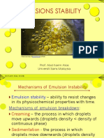 Emulsion Stability Must Include Presentation