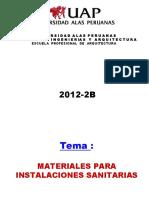 Tema - Materiales Para Instalaciones Sanitarias