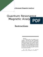 Quantum Health Analyzer Manual-For Customer