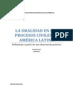 La oralidad en los procesos civiles