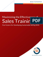 Maximizing the Effectiveness of Sales Training