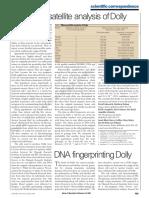 Análisis de Microsatélites de ADN de Dolly