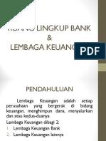 Ruang Lingkup Bank dan Lembaga Keuangan