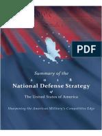 2018 National Defense Strategy Summary2