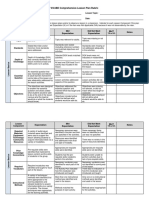 Comprehensive Lesson Plan Rubric