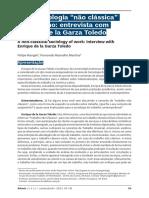 Uma Sociologia Não Clássica Do Trabalho - Entrevista Com Enrique de La Garza Toledo