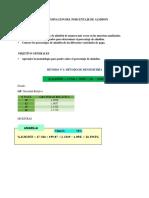 Determinacion Del Porcentaje de Almidon