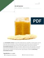 Receta de Mermelada de Banana - Fácil - RecetasGratis.net