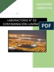 Ambiental Lab 3 Contaminacion Luminica
